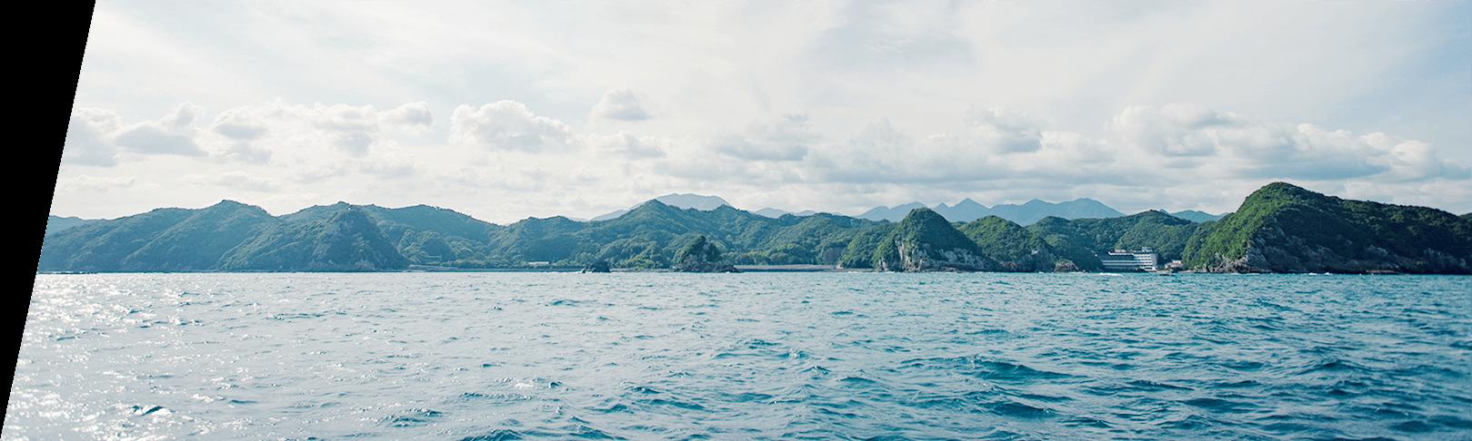 那智勝浦の海